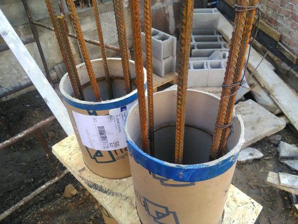 Szalunek, tuleja na filarki, tuby na kolumny papierowe, tuleja