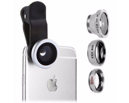 Набор линз 3 в 1 для смартфона на клипсе /алинзы объективы для телефон Седнев - изображение 1
