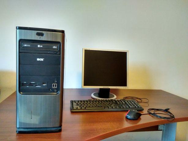 Komputer monitor klawiatura myszka