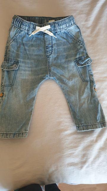 Spodnie spodenki jeansowe h&m 80