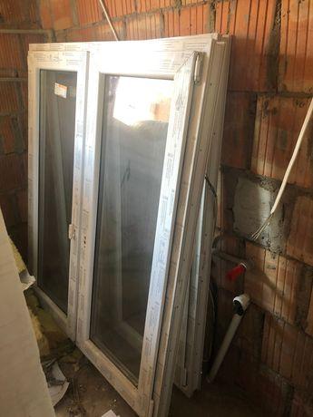2 Okna PVC 1180 x 1450