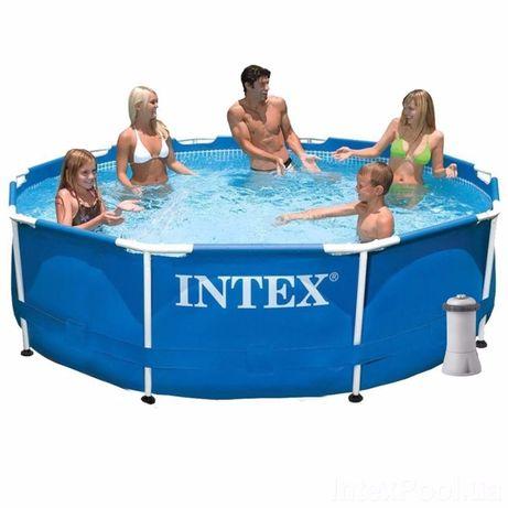 Каркасный бассейн басейн Intex 305х76 см (насос, тент, подстилка)