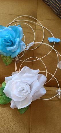 Ozdoba, dekoracja auta ślubnego, kwiaty + gratis tablice