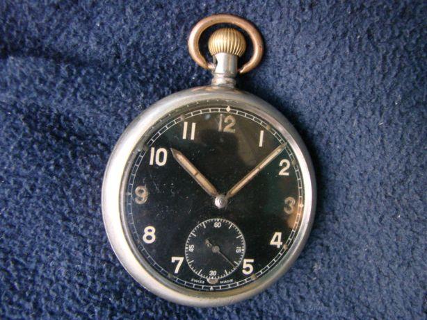часы карманные старинные швейцарские 50 мм военные