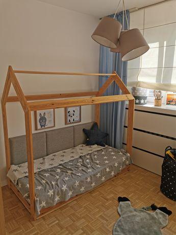 Łóżko dziecięce domek 160x80cm + stelaż + moduły na ścianę Medforbed