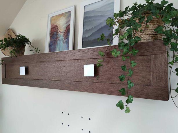 Meble PAGED do salonu drewniane dębowe szafka RTV kredens stolik półka