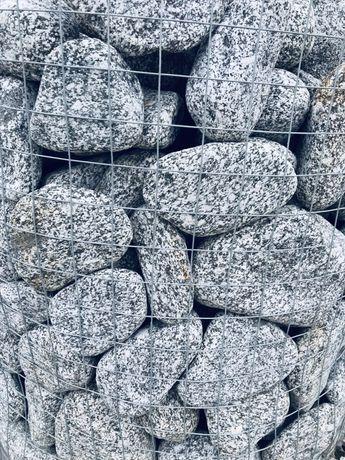 Szary Granitowy Otoczak Kamień Naturalny do Ogrodu na Skalniak Żwir