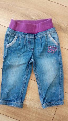 Spodnie jeansowe dla dziewczynki - rozm.74cm - stan IDEALNY