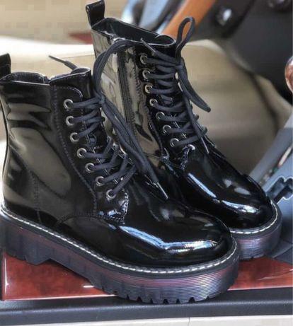 Ботинки, лаковая кожа