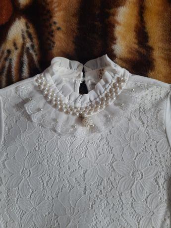 Белая блузка на рост 140