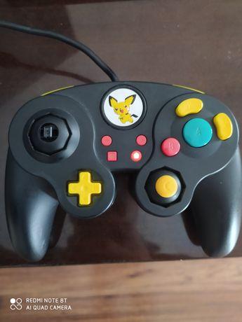 Pad Nintendo Switch przewodowy Fight Pad Pro Super Smash Bros Pikachu