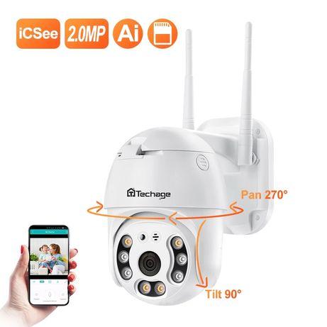 Kamera IP obrotowa tania wysyłka Techage FHD 2MP wi-fi podglad z tel