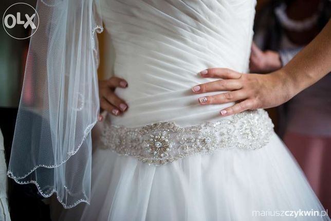 Suknia ślubna Paris + bolerko atrakcyjna cena!