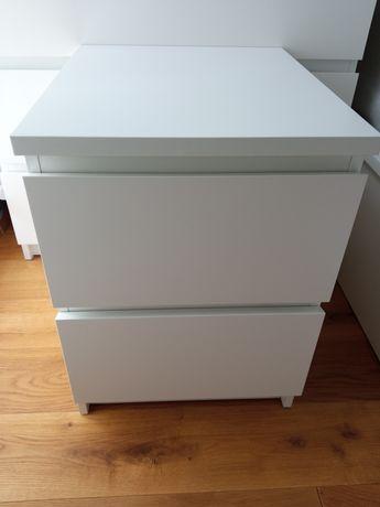 Komoda stolik nocny Ikea MALM biały mat