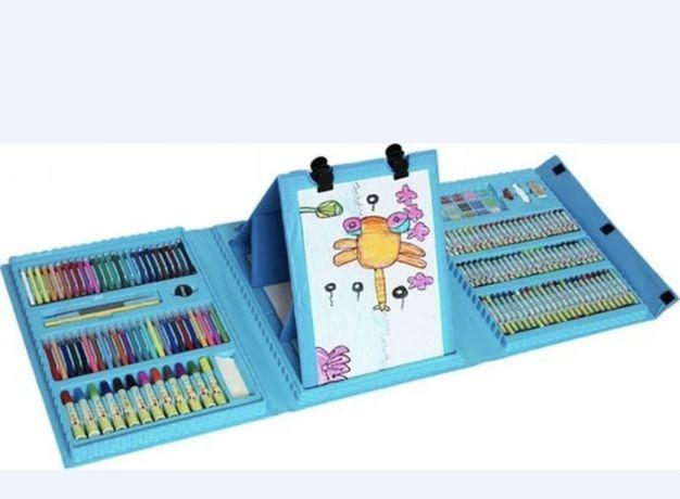 Детский набор для рисования 208 предметов в удобном кейсе с ручкой c м