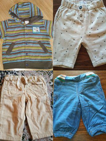 Zestaw 4szt. ubranka dla chłopca rozmiar 62, stan idealny