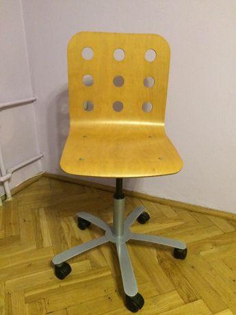 Krzesło fotel obrotowy drewniany biurkowy Ikea