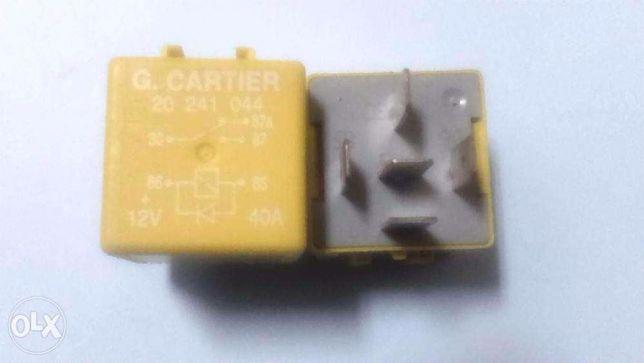 Relé G. Cartier 12V-40A  ( 03540) +12V-40A Rosa + 12V-40A Amarela