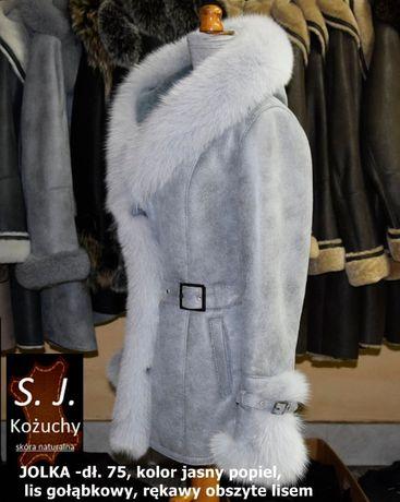 Kożuch damski naturalny JOLKA dł. 75cm - PRODUCENT!!!