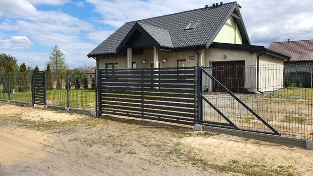 Ogrodzenie panelowe, siatka, betonowe