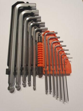 YATO YT-5837 klucze imbusowe zestaw HEX CALOWE kulka 12 EL