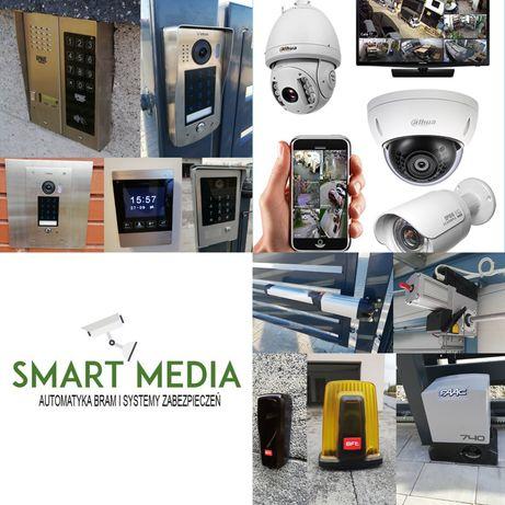 montaż kamer domofon instalacja monitoring serwis napęd do bram alarm