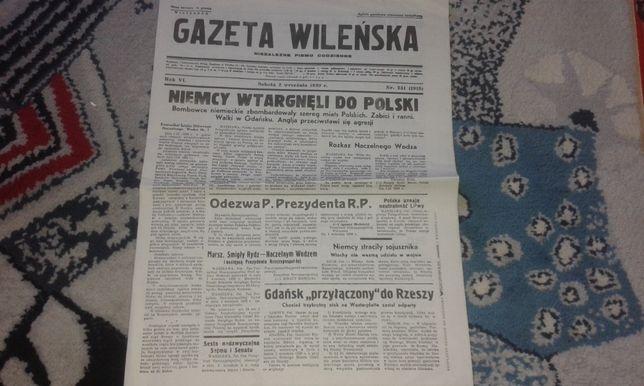 Gazeta Wileńska - 2 września 1939 r.