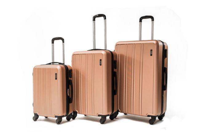 Walizki Bagaż Podróżne zestaw 3w1 Twarde Solidne na Kółkach Duża XL
