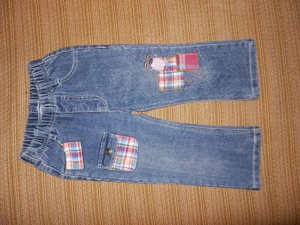 джинсы для девочки на 2-3 года (92 р.)