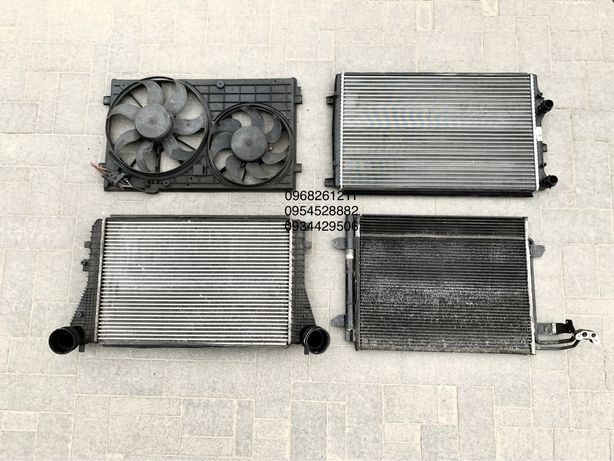 Радиатор дифузор интеркулер VW Caddy Touran Кади Тоуран радіатор