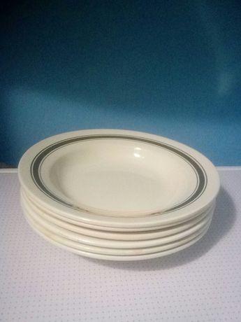 тарелка десертная глубокая с золотистой каймой (6 шт.)