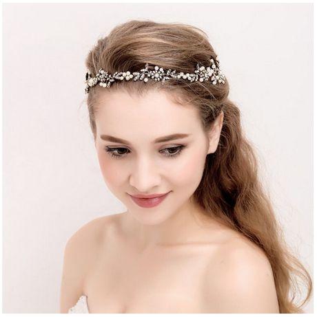 Opaska gałązka ozdoba do włosów ślub srebrna kamienie ślub wesele