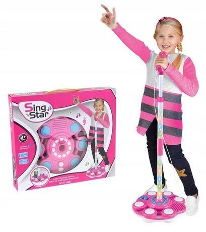 Mikrofon Na Statywie Dla Dzieci Karaoke Mp3 -Superzabaweczki-