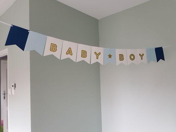 Banner Baby Shower Boy niebieski