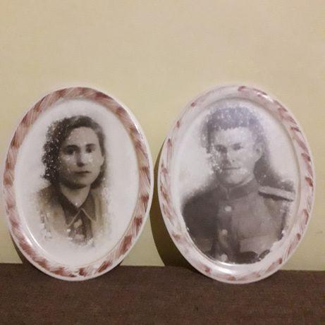 Старые фотографии на тарелках (тарелки с фото)