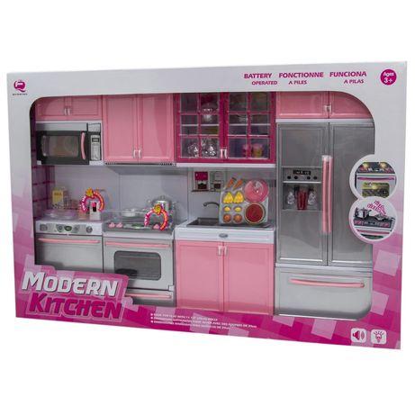 Игровой набор кухня для барби модная кухня свет звук