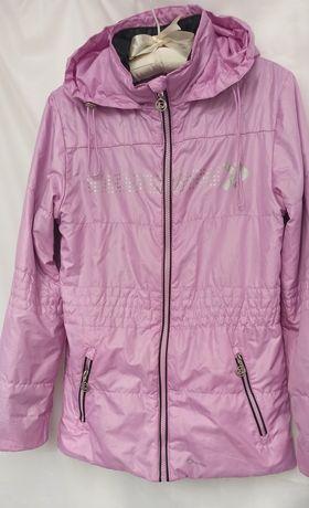Куртка-ветровка для девочки, шапочка
