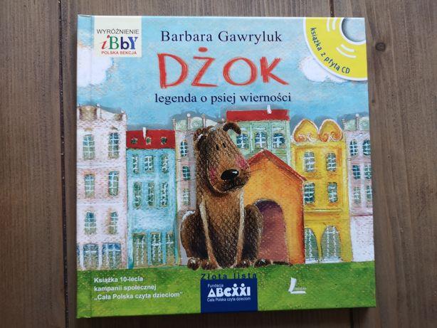 """Książka Barbary Gawryluk pt. """"Dżok legenda o psiej wierności"""" + CD"""