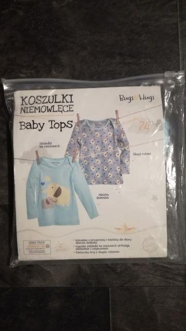 Nowe koszulki niemowlęce rozmiar 74 Bugs&Hugs