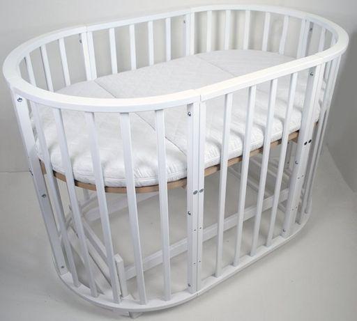 Детская кроватка-трансформер кровать овальная 8 в 1 в наличии