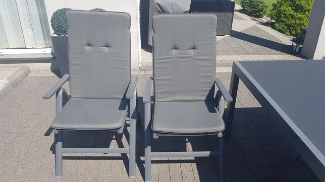 Poduszka poduszki szare antracyt grafit na krzesła tarasowe ogrodowe
