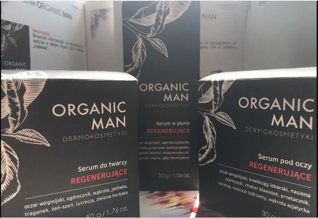 Man Organic Life serum do twarzy pod oczy, balsam do hig. intymnej