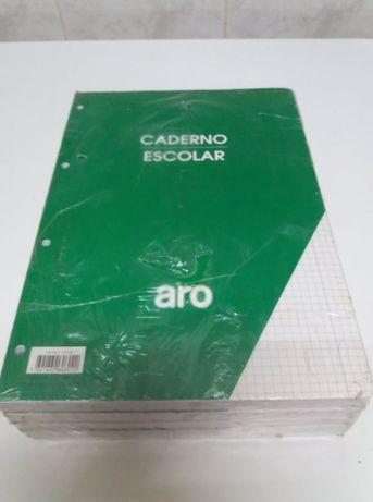 5 recargas caderno escolar quadriculado (500 folhas) A4 marca ARO