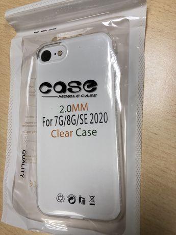 NOWE Etui plecy case Iphone 7, 8, SE bezbarwny