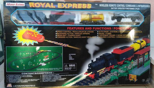 Pista de comboios Royal Express da Master Railway