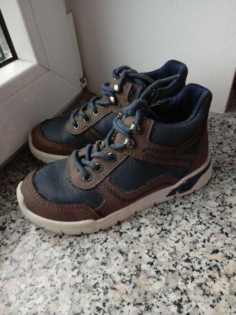 Eleganckie sportowe buty na jesień granatowe brązowe Lupilu 27