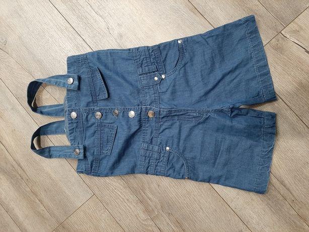 Ogrodniczki kombinezon miękki dżins jeans r. 110/116