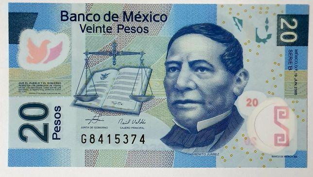 Banknot MEKSYK UNC polimer
