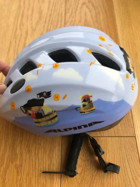 Kask rowerowy dziecięcy Alpina Comet II Blue Pirate