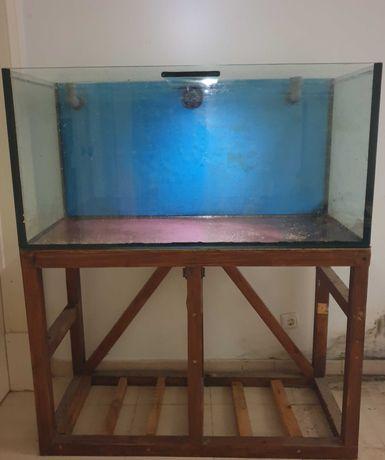 Aquário 360 litros (120 x 50 x 60) - Oportunidade (móvel incluído)